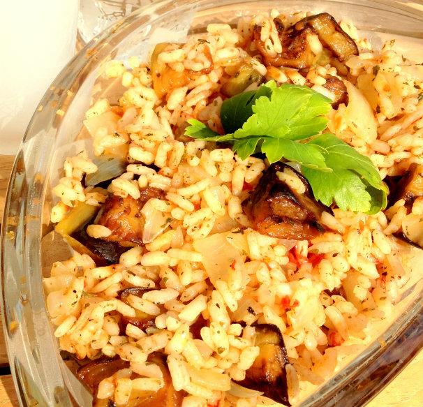 Patlıcanlı Pilav 4