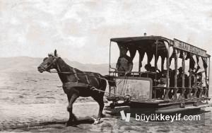 ALSANCAK- ATLI TRAMVAY- RAKI REKLAMI