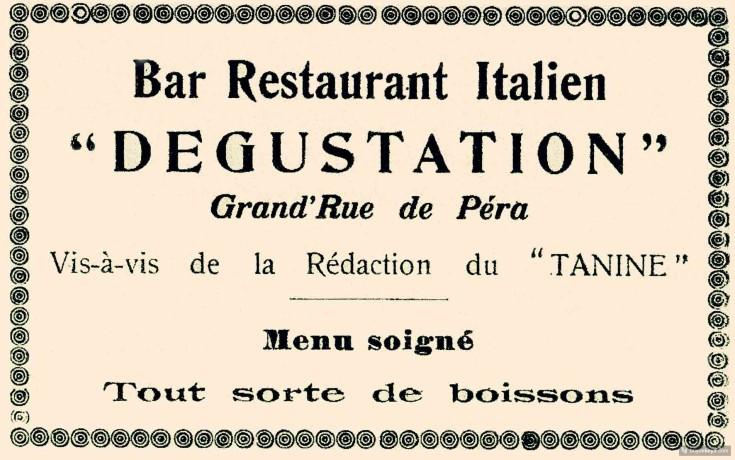 DEGUSTASYON - 1925, PSST DERGISI 1925, GOKHAN AKCUEA KOLL