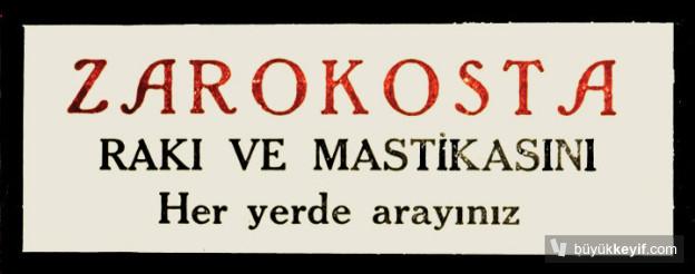 ZAROKOSTA RAKI VE MASTIKASI- 1929